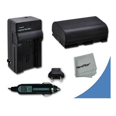 LP-E6 LPE6 Battery + Quick AC/DC Charger for Canon DSLR Camera