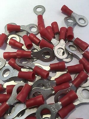 25 Premier 1.5 Red  6.0 Mm Ring Crimps  Top Quality For  Locost 7     ~ H6