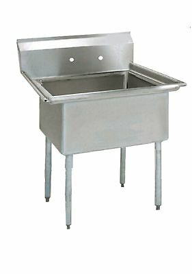 (1) One Compartment Commercial Stainless Steel Utility Prep Mop Sink 23 x 23.8 G