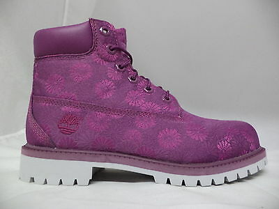 "Grade School Timberland 6"" Classic Boots Floral-A174B"