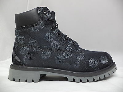 "Grade School Timberland 6"" Classic Boots Floral-A177S"