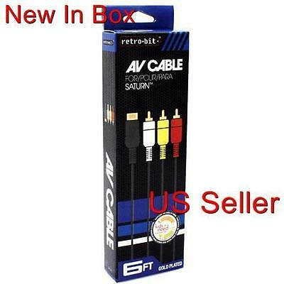 New AV RCA Video Audio Composite Cable for Sega Saturn (1 YEAR WARRANTY)