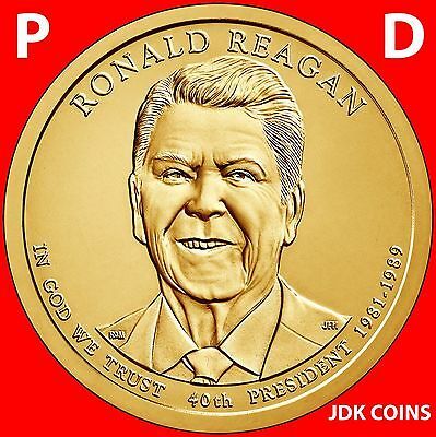 2016 P&d Ronald Reagan Presidential Dollar Set From Mint Rolls Uncirculated