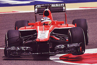 Jules Bianchi Signed 8X12 inches Marussia F1 Photo with Proof