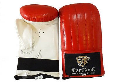 Pro Leather Boxing Gloves Fight,Punch Bag Gloves MMA Muay thai Grappling Pad