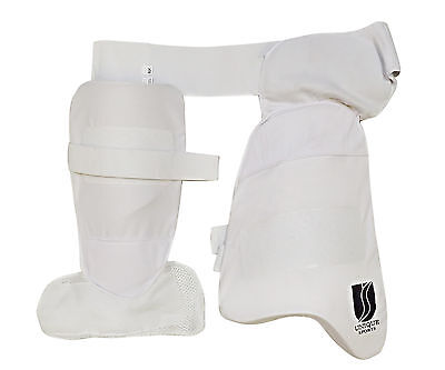 CRICKET Thigh Pads Set & Lower Body Protector PADS GLOVES  BALL BAT