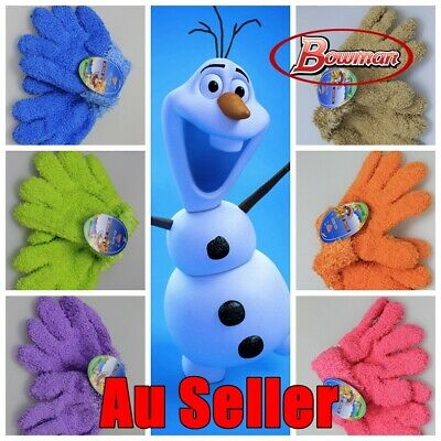 Kids Children Toddler Warm Winter Ski Gloves Boy Girl Full Finger Colour Mitten