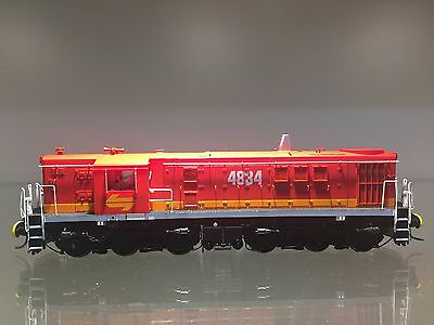 """LATEST RELEASE"" TrainOrama 48 Class HO Scale Locomotive, 4834, Candy - Red Roof"