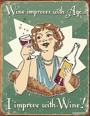 Schonberg - Wine Improved Tin Sign - 12x16