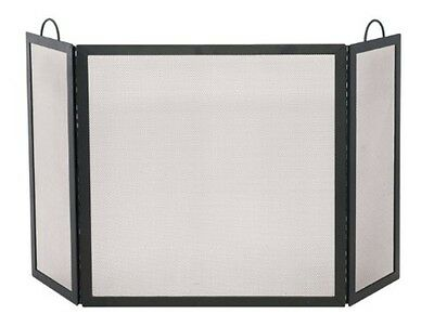 Uniflame 3 Fold Black Wrought Iron Medium Screen S-1504 Fireplace Screen NEW