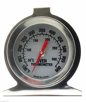 New Stainless Steel Oven Cooker Thermometer Temperature Gauge