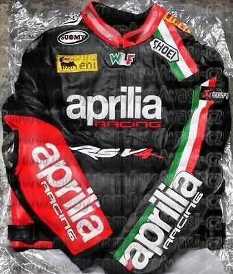 Brand New Max Biaggi Aprilia Motogp Leather Racing Jacket