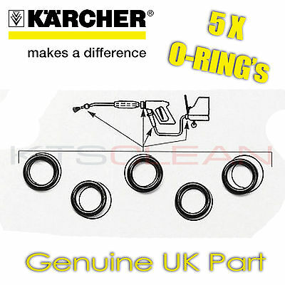 5 x Karcher O-RING SEAL KIT Spare Set for Hose Gun Lance - All Models GENUINE