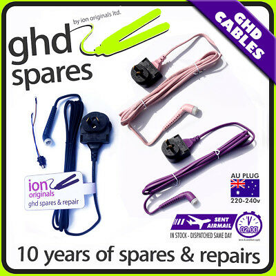 CABLE FOR GHD HAIR STRAIGHTENER MK3 SS 3.1b MK4 4.1 4.2 or MK5 or pink/connector