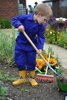 Kids Childrens Boilersuit Overall Coverall Girls Boys Jumpsuit Gardening School