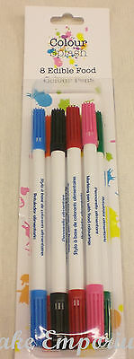 Culpitt Sugarcraft Colour Splash Pens Double Tip 8 Colour Pack 2ml
