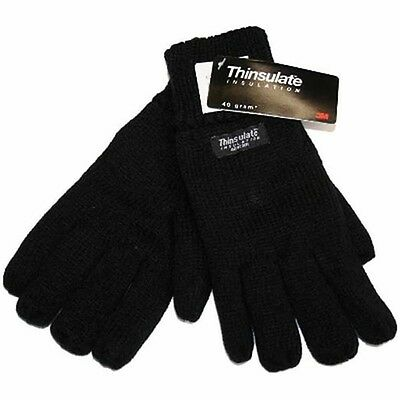 Rjm Men's Heat Guard Thermal Thinsulate Lined Knitted Warm Winter Gloves Gl130