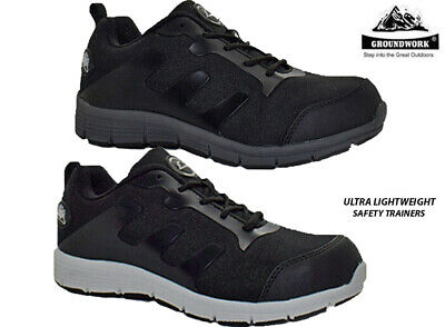 Mens Groundwork Ultra Lightweight Steel Toe Cap Safety Shoes Work Trainers Boot