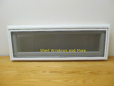 Transom Awning Window Insulated PVC 36 x 12 Shed Tiny House Playhouse Homes