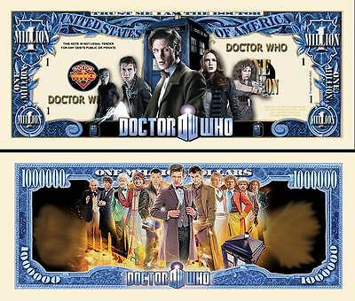 Doctor Who Million Dollar Novelty Collector Bill Note