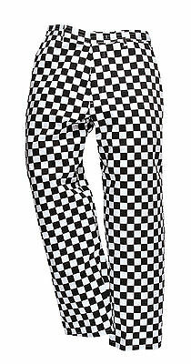"Portwest Black Chessboard CHEFs Trousers S068 MEDIUM 33""-34"""
