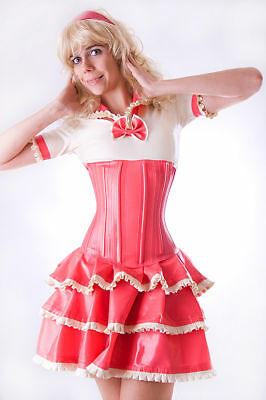 Latex Gummi Kleid mit Korsette, Dress with corset