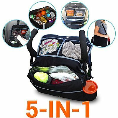 5-In-1 Insulated Stroller Bag And Backseat Organizer Keeps Drinks Cool With A