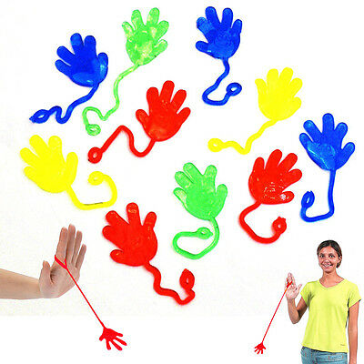 "Dazzling Toys 36 Pcs 7"" Vinyl Sticky Hands and Feet Birthday Party Favors Prize"