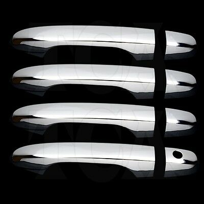 FOR CHRYSLER TOWN /& COUNTRY 08-15 CHROME 4 DOORS HANDLES COVERS W//OUT PSG KH