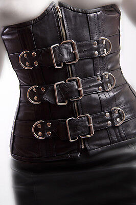 Lammleder Unterbrust Korsett underbust leather Corset
