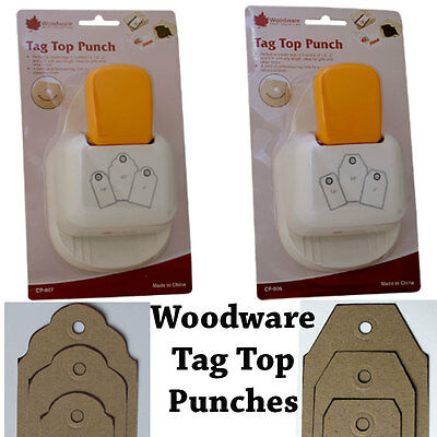 Woodware Tag Top Punch : straight, scalloped, embossed eyelet hole CP806 CP807