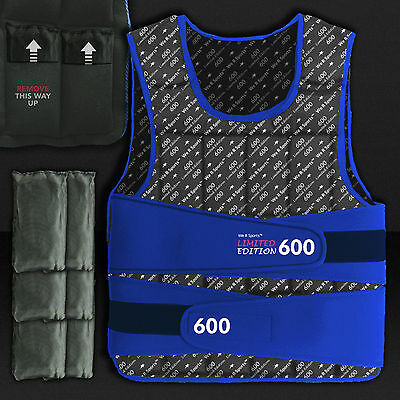 10kg Blue Weighted Weight Vest Loss Training Exercise Crossfit LIMITED EDITION