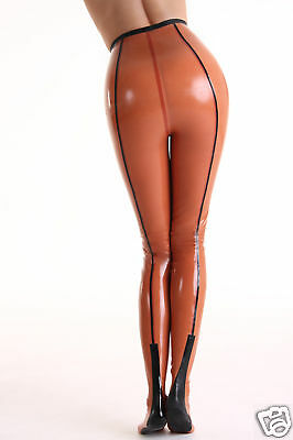 Latex Gummi  Strumpfhose mit Naht Rubber Tights seamed