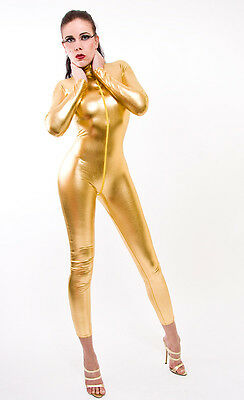 Catsuit Overall Gothic  Lack/Latex look!  Gold
