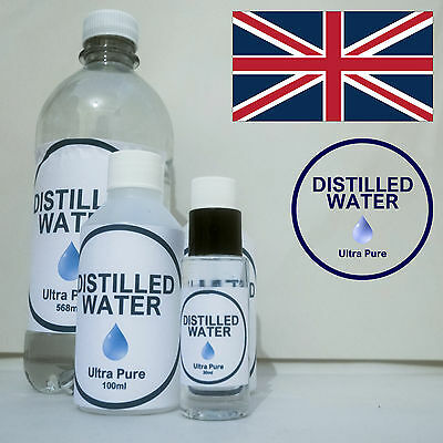 Ultra Pure Quality Distilled Water Various Sizes ML Bottles 5 Litres Cleaner UK