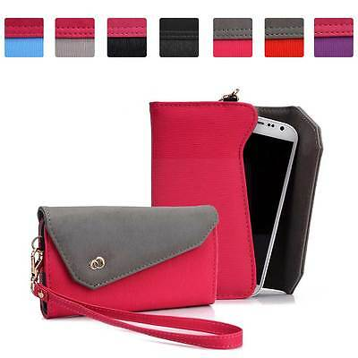 Womens Link Wallet Case Clutch Cover for Smart Cell Phones by KroO CRWL3