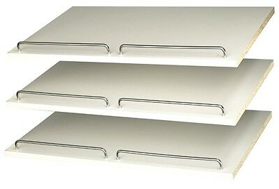Easy Track RS1600 24-Inch Shoe Shelves, White, 3-Pack - 688513