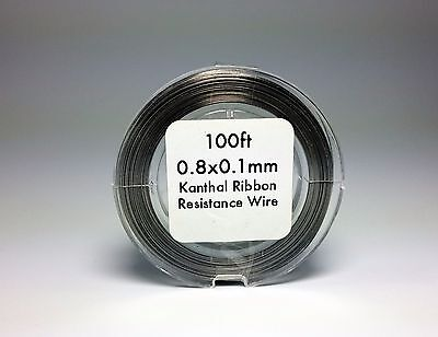 Flat Ribbon Kanthal A1 Wire 50ft Roll 0.8mm X 0.1mm 5.76 ohms/ft Resistance