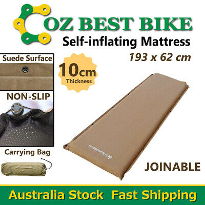 NEW 10cm SELF INFLATING MATTRESS Suede Inflatable Camping Outdoor