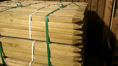 (1.2m) SQUARE & POINTED PRESSURE TREATED TREE STAKES X 920 full  PACK