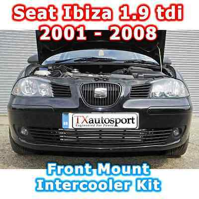 SEAT IBIZA 1.9 tdi- Lower Front Mount Alloy Intercooler Kit - Black