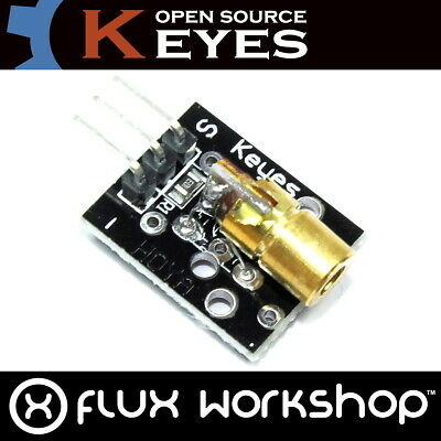 Keyes Mini 650nm 5mW Laser Dot Module KY-008 5V Arduino Raspberry Flux Workshop