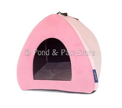 Ancol Sleepy Paws Faux Suede Cat/Small Dog Pyramid Igloo Bed