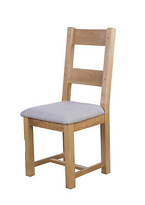Painted Oak Dining Chair With Fabric Pad Fully Assembled RRP £159