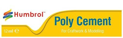 Humbrol Poly Cement Glue for Models Tube 12mls for Airfix & Revell Plastic Kits