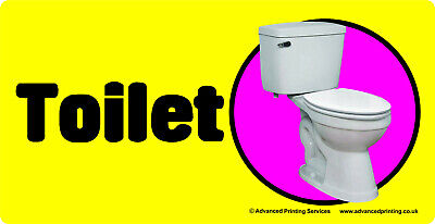 Self-adhesive signage for Dementia Alzheimers Partially Sighted - TOILET 171-07