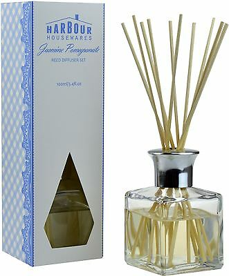 Jasmine Pomegranate Scented Fragranced Reed Diffuser Air Freshener Set. 100ml