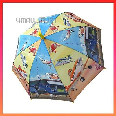 Kids Boys Umbrella Parasol Raincoat Rainproof Planes Dusty Disney Pixar Gift New