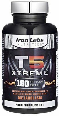 T5 Xtreme - No.1 Thermogenic Fat Burner - Intense Weight Loss (180 Capsules)