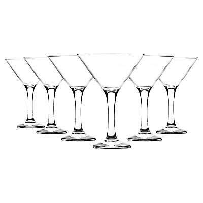 Martini Cocktail Drinking Party Glasses In Gift Box. 175ml x6